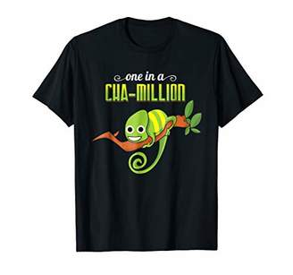 One In A Cha-Million T-Shirt Funny Pun Chameleon Tee Gift