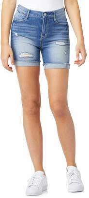 Wallflower Juniors' WallFlower Irresistible High-Rise Midi Jean Shorts