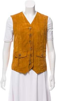 Dolce & Gabbana Suede Button-Up Vest