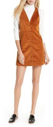 Free People Rolling Thunder Corduroy Minidress