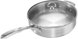 Chantal Induction 21 Steel 5-qt. Saut Skillet with Glass Lid