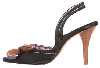 Etro Satin Slingback Sandals