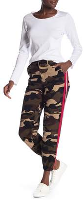 Know One Cares Camouflage Striped Jogger Pants