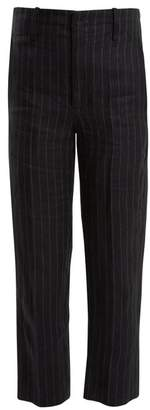 Etoile Isabel Marant Idini Wide Leg Striped Linen Trousers - Womens - Navy Stripe