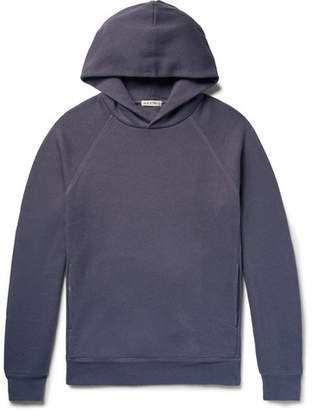 Alex Mill Melange Slub Loopback Cotton-Jersey Hoodie - Men - Dark purple