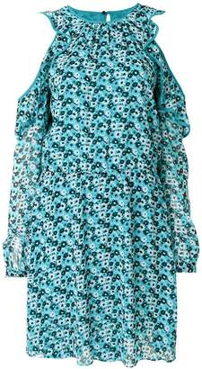 MICHAEL Michael Kors cold-shoulder floral-print dress