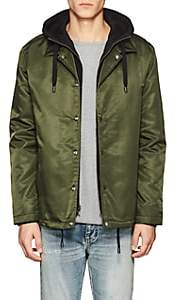 The Very Warm THE VERY WARM MEN'S HOODED COACHES JACKET-OLIVE SIZE S