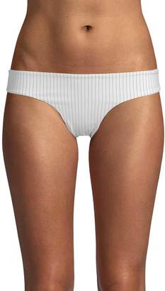 Onia Women's Pinstripe Bikini Brief