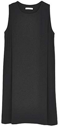 Argovia (アルゴヴィア) - アビックス アルゴヴィア タックジャンパースカート(授乳口付き) L-LL ブラック ストレッチポンチ 376516