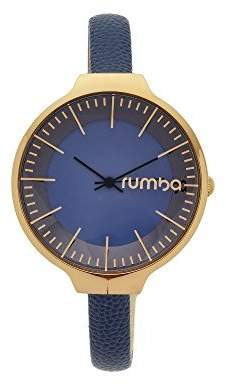 RumbaTime Women's 'Orchard' Quartz Stainless Steel and Leather Casual Watch, Color Blue (Model: 26566)