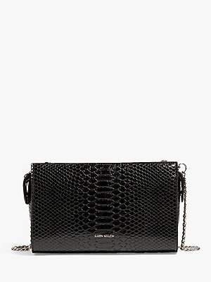 e7ecc4b8f1 Karen Millen Faux Snakeskin Crossbody Bag, Black