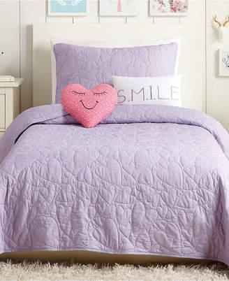 Urban Playground Heart 4-Pc. Twin Quilt Set Bedding