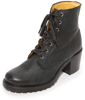 Frye Sabrina Lace Up Booties $328 thestylecure.com