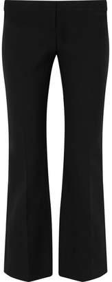 Alexander McQueen Lace-up Grain De Poudre Bootcut Pants - Black