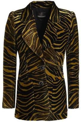 Roberto Cavalli Zebra-print Velvet Blazer