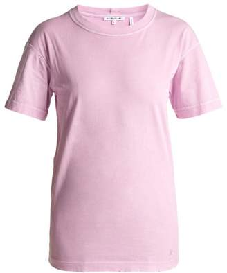 Helmut Lang Distressed Cotton Jersey T Shirt - Womens - Pink
