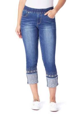 Jag Jeans Embroidery Cuff Jeans