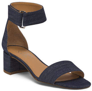 Block Heel One Band Ankle Strap Sandals