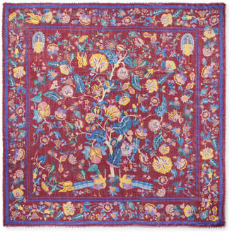 Gabriela Hearst Floral-print Cashmere And Silk-blend Voile Scarf