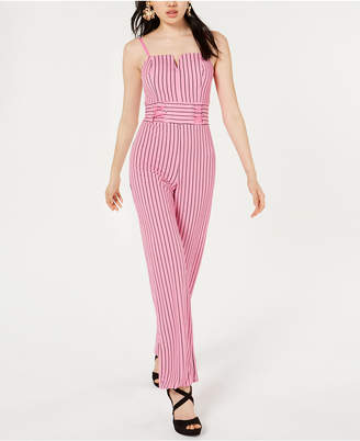 Material Girl Juniors' Lace-Up Jumpsuit