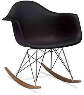 Baxton Studio Dario Plastic Mid-Century Modern Rocking Chair