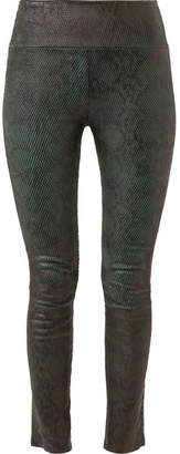 SPRWMN Snake-effect Leather Leggings