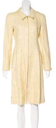 Chanel Tweed Zip-Front Coat