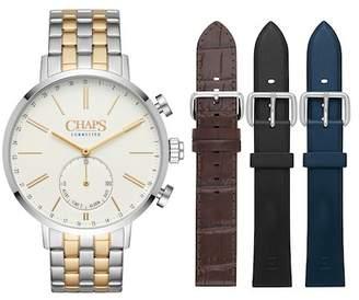 Chaps Dunham Interchangeable Two-Tone Bracelet Hybrid Smart Strap Watch, 44mm
