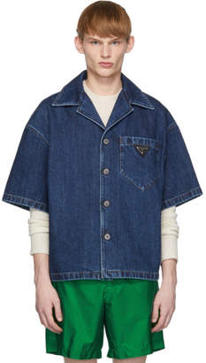 Prada Blue Denim Vintage Used Shirt