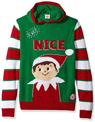 Ugly Christmas Sweater Men's Hoodie-Elf On The Shelf