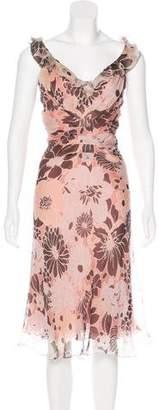 J. Mendel Printed Midi Dress