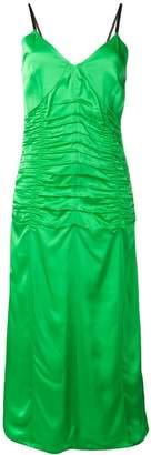Helmut Lang ruched slip dress