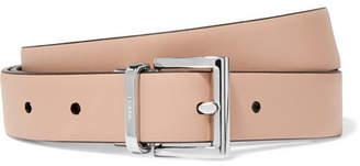 Prada Reversible Leather Belt - Beige