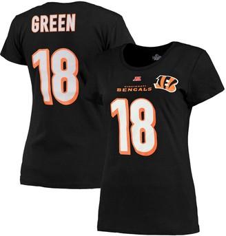 Majestic Women's Cincinnati Bengals AJ Green Black Fair Catch V Name & Number T-Shirt