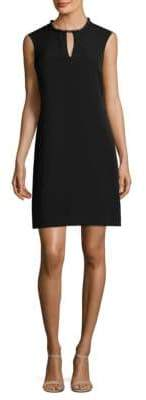 Donna Ricco Embellished Neck Mini Dress