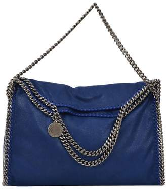 Stella McCartney Falabella Fold Over Tote Blue