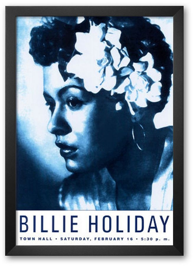 "Art.com Billie Holiday at Town Hall, New York City, 1948"" 24.63"" x 17"".75"" Framed Art Print By Dennis Loren"