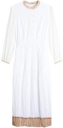 Agnona Pleated Cotton Dress