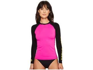 Body Glove 80s Throwback Push It Rashguard Women's Swimwear