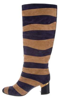 Lanvin Suede Striped Boots