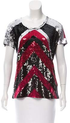Lanvin Sequined Short Sleeve Top w/ Tags