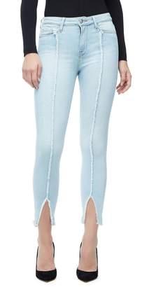 Good American Good Legs Crop Raw Seam Jeans - Blue136