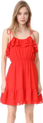 Moon River Sleeveless Ruffle Dress $90 thestylecure.com