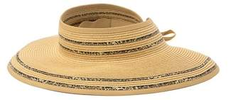 August Hat Animal Trim Large Roll Up Visor