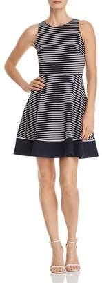 Kate Spade Striped Ponte Fit-and-Flare Dress
