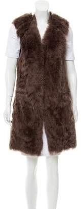 Marni Shearling Open Vest