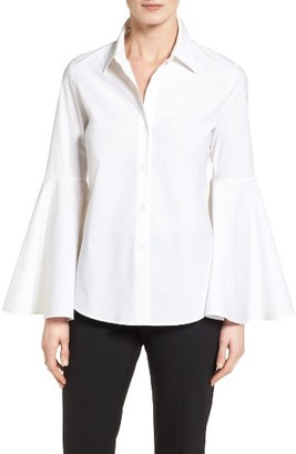 Petite Women's Vince Camuto Bell Sleeve Shirt $89 thestylecure.com