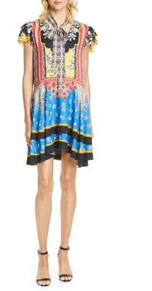 Alice + Olivia Moore Mix Print Minidress