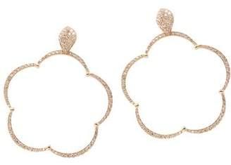 Pasquale Bruni 18K Rose Gold Bon Ton Ton Joli Diamond & Champagne Diamond Large Floral Earrings