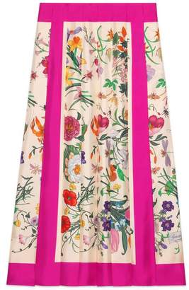 Gucci Silk skirt with Flora print